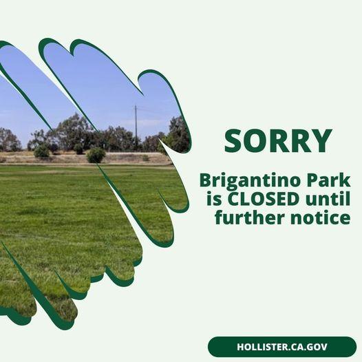 Brigantino Park notice.