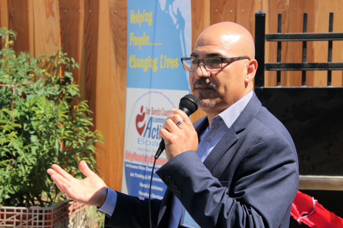 Enrique Arreola said the county will continue to apply for grants to help pay for more transitional housing until one day, he hoped, there would be no homeless people in the county. Photo by John Chadwell.