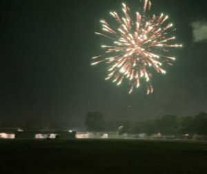 Fireworks in 2021 over the Rancho San Justo Middle School campus. Photo by Noe Magaña.