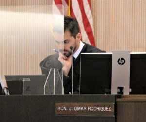 Superior Court Judge Omar Rodriguez agreed to give attorney Brad Sullivan a 90-day continuance for medical reasons. Photo by John Chadwell.