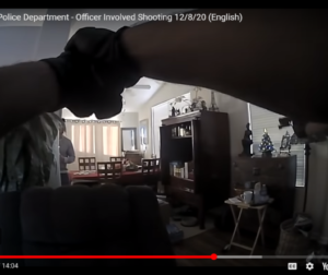 Image from video released by Hollister Police Department of an officer involved shooting on Dec. 8.