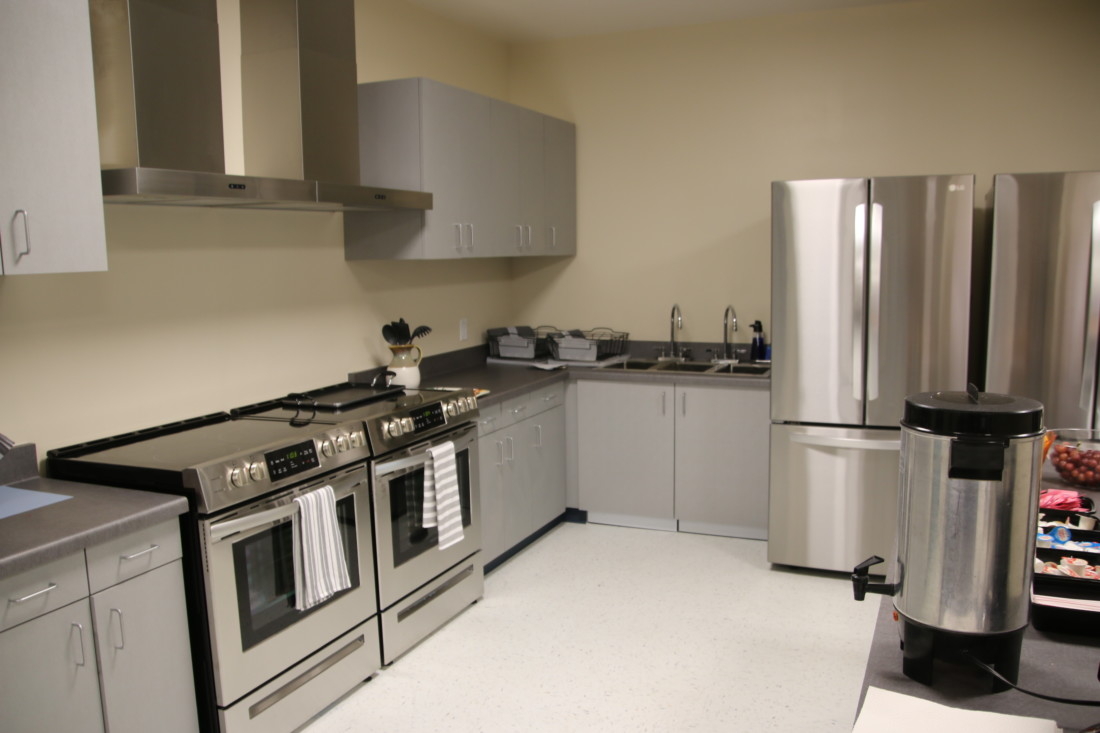 Six people who live in the transition units will share a kitchen and laundry room. Photo by John Chadwell.
