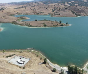 San Justo Reservoir August 2021. Photo by Robert Eliason.