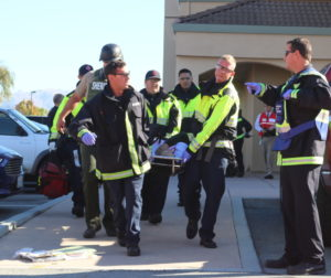 Emergency drills involving multiple city and county agencies are held at least once a year. Photo by John Chadwell.