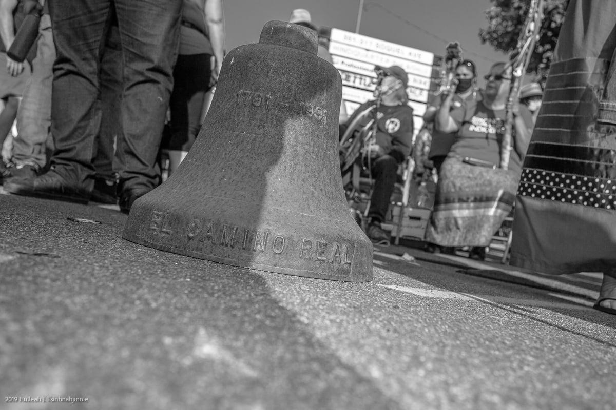 El Camino Real Bell. Photo by Hulleah Tsinhnahjinnie.