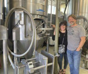 Lisa and David Jensen at Suncoast Organic Nuthouse Brew. Photo by Robert Eliason.