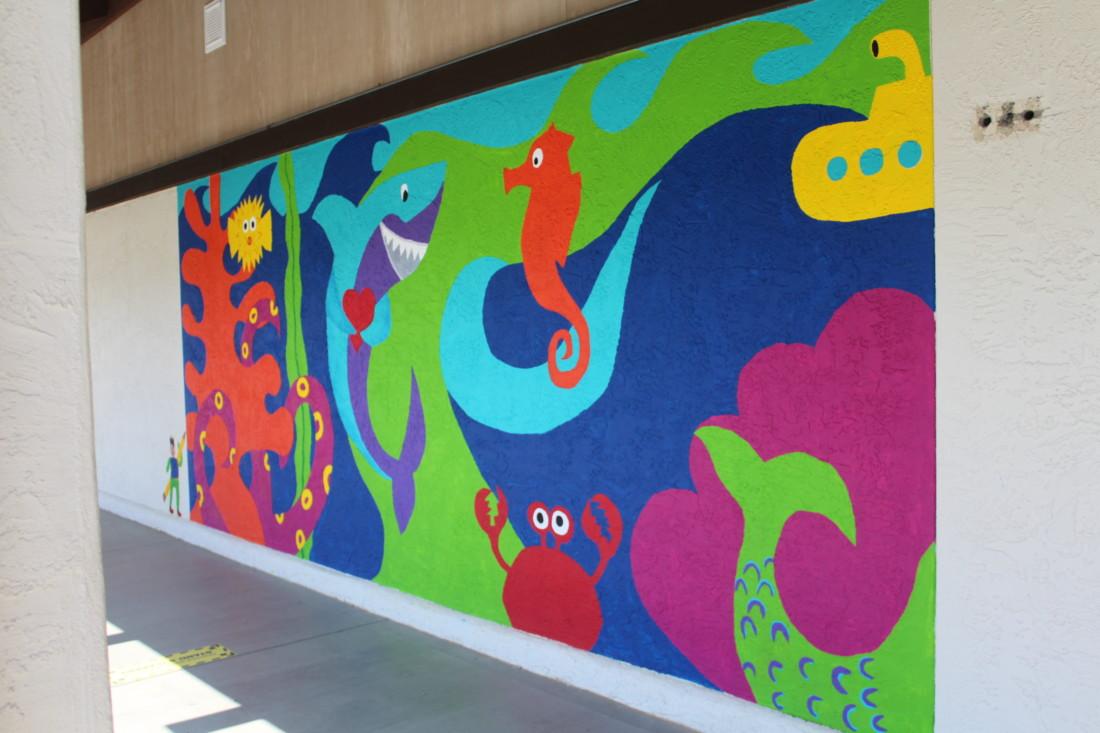 Cerra Vista School's completed mural. Photo by Jenny Mendolla Arbizu.