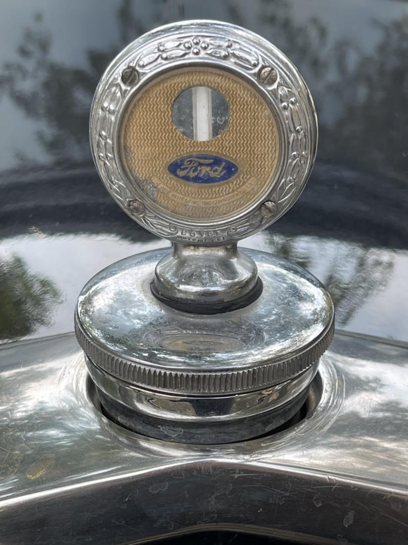 Model A Ford hood ornament. Photo by Robert Eliason.