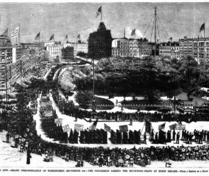 First Labor Day Parade published on the U.S. Department of Labor website. Original art came from Frank Leslie's Weekly Illustrated Newspaper.