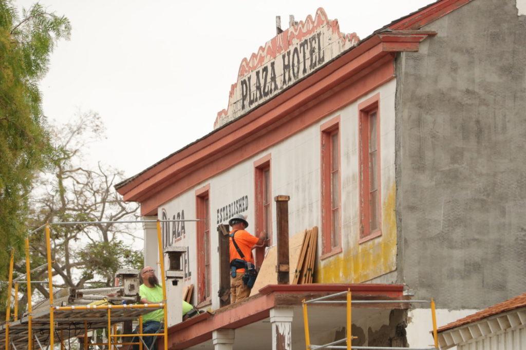 Restoration work at the Plaza Hotel. Photo by Robert Eliason.