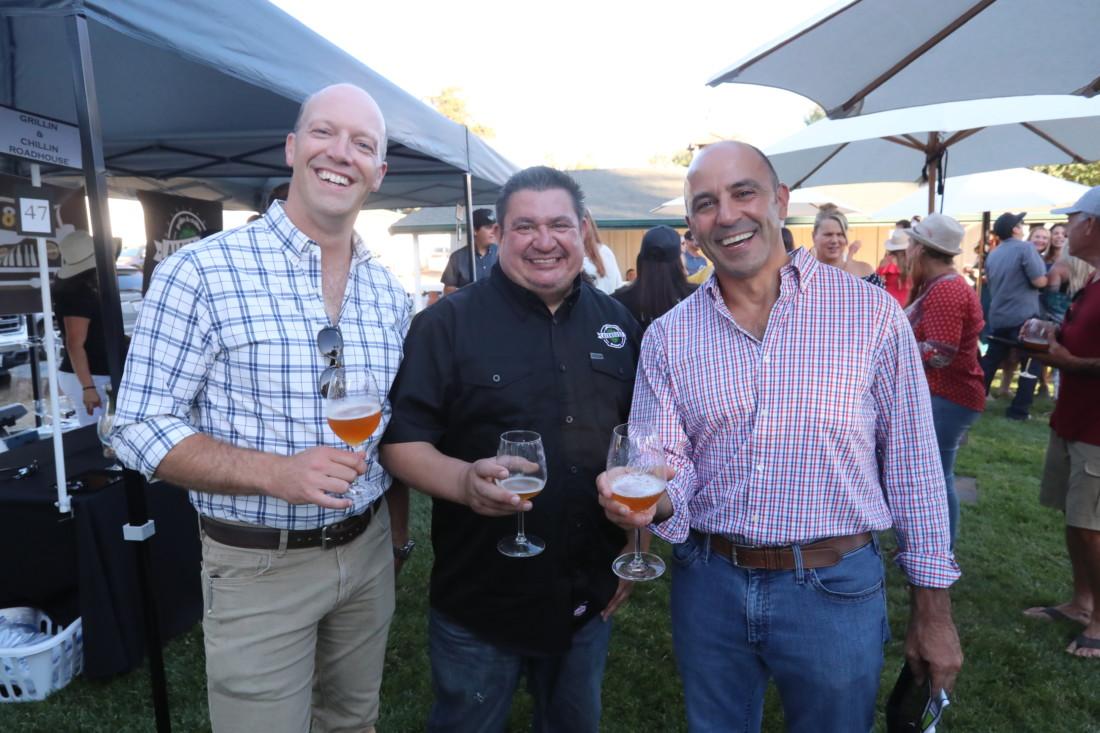Christian Pillsbury, Chuck Frowein, and Jimmy Panetta. Photo by Robert Eliason.