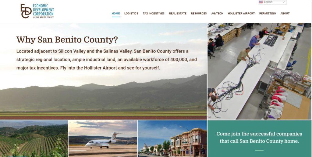 Image courtesy of the Economic Development Corporation of San Benito County.