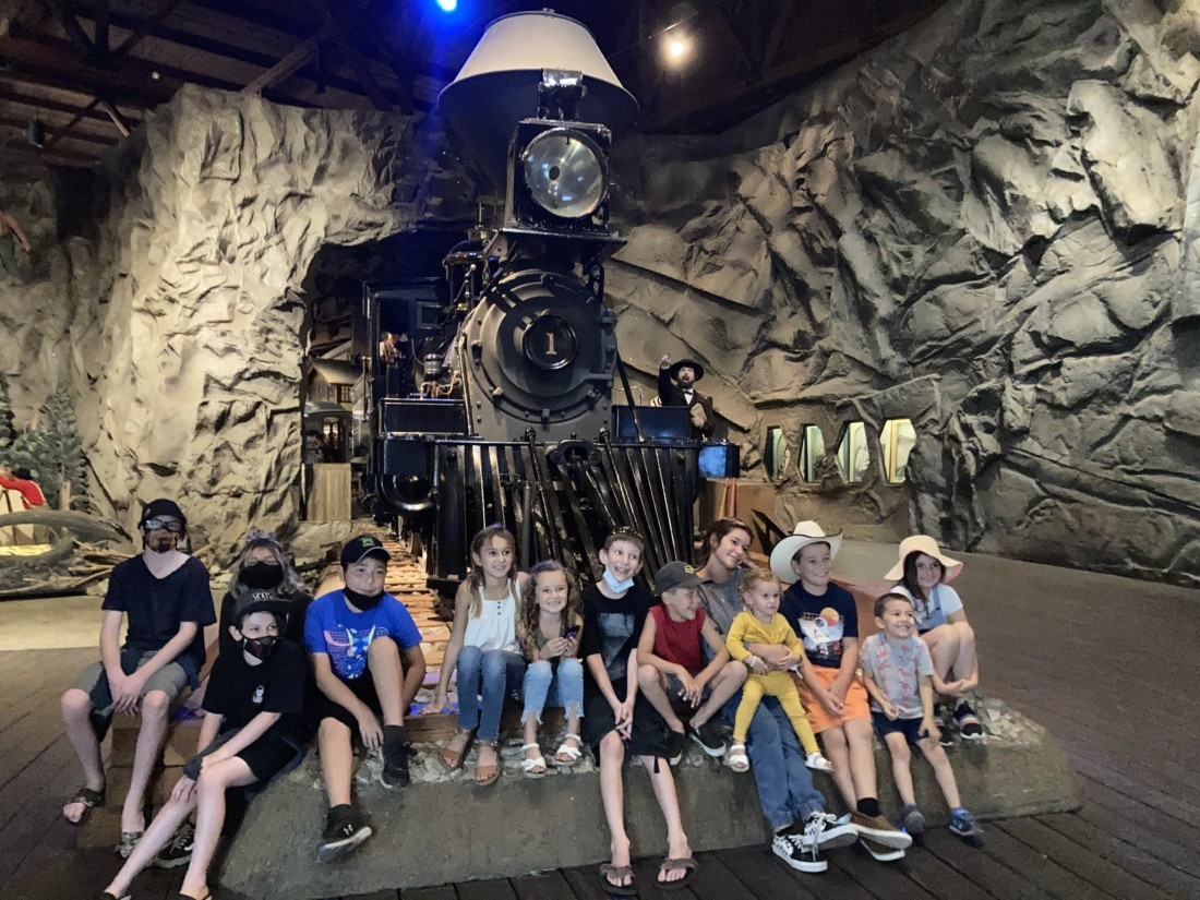 Students in the California State Railroad Museum. Photo courtesy of Shelby Schipsi.