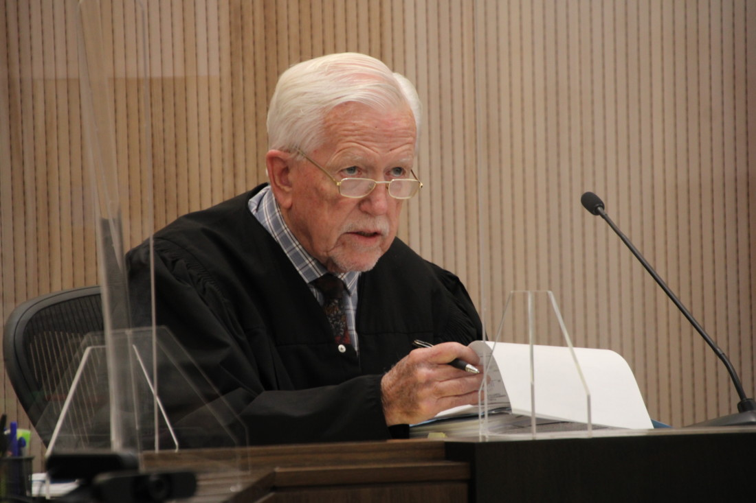 Retired Judge Thomas Breen set Jose Barajas' trial date for Oct. 4. Photo by John Chadwell.