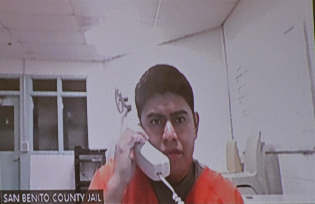Manuel Martinez Vazquez appeared via Zoom Sept. 16 to learn his trial-setting hearing is set for Oct. 28. Photo by John Chadwell.