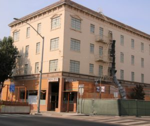 Built in 1928, the building served as a hotel and a bank. It will soon house 12 apartments. Photo by John Chadwell.
