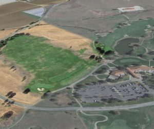 The developer said there are plans to invest heavily in the golf course and clubhouse, as well as building the neighboring community of 1,084 units. Google Earth Photo.