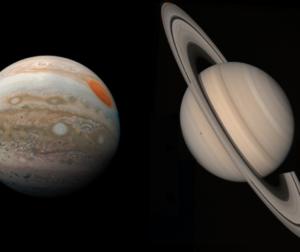 Jupiter and Saturn. File photo