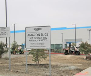 The new Hollister Amazon facility is due to open Sept. 28 and will initially employ at least 300. Photo by John Chadwell.