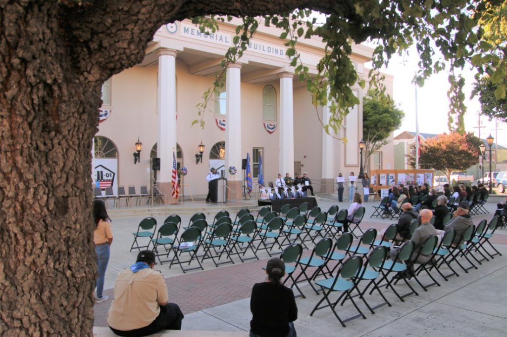 Fewer than hoped for attended the 20th anniversary of the 9/11 attack. Photo by John Chadwell.