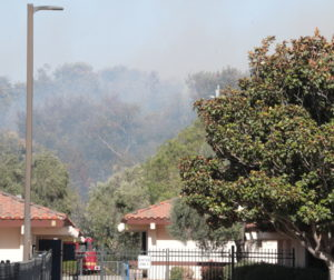 Fire at San Juan Elementary. Photo by Robert Eliason.