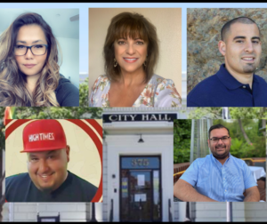 (From left top) Dolores Morales, Lauretta Avina, Silas Quintero. (From left bottom) Scott McPhahil and Matthew Rojas. Photos courtesy of the candidates.