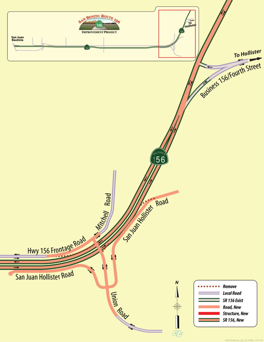 Highway 156 widening project. Image courtesy of Caltrans.