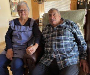 Rebecca and Jose Salinas. Photo by Robert Eliason.
