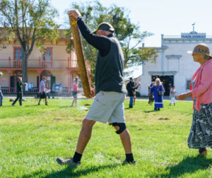 Rain dance ceremony in San Juan Bautista on Oct. 10. Photo by Jonathan Crowther.