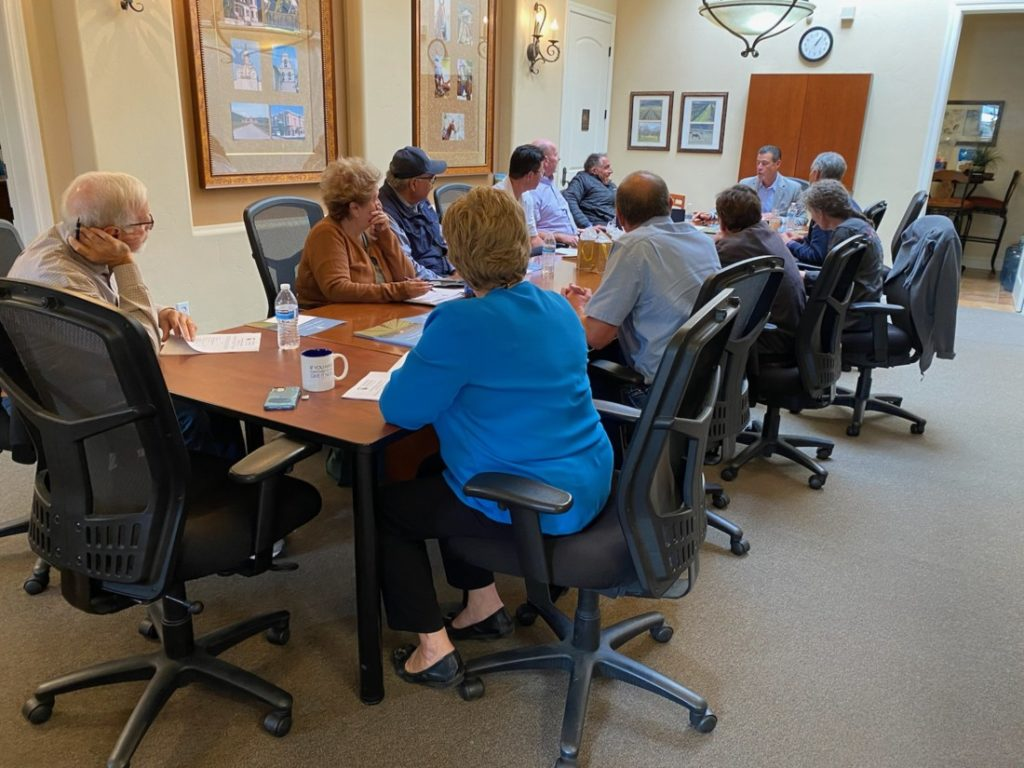 Community Foundation for San Benito County board members meet monthly. Photo by Leslie David.