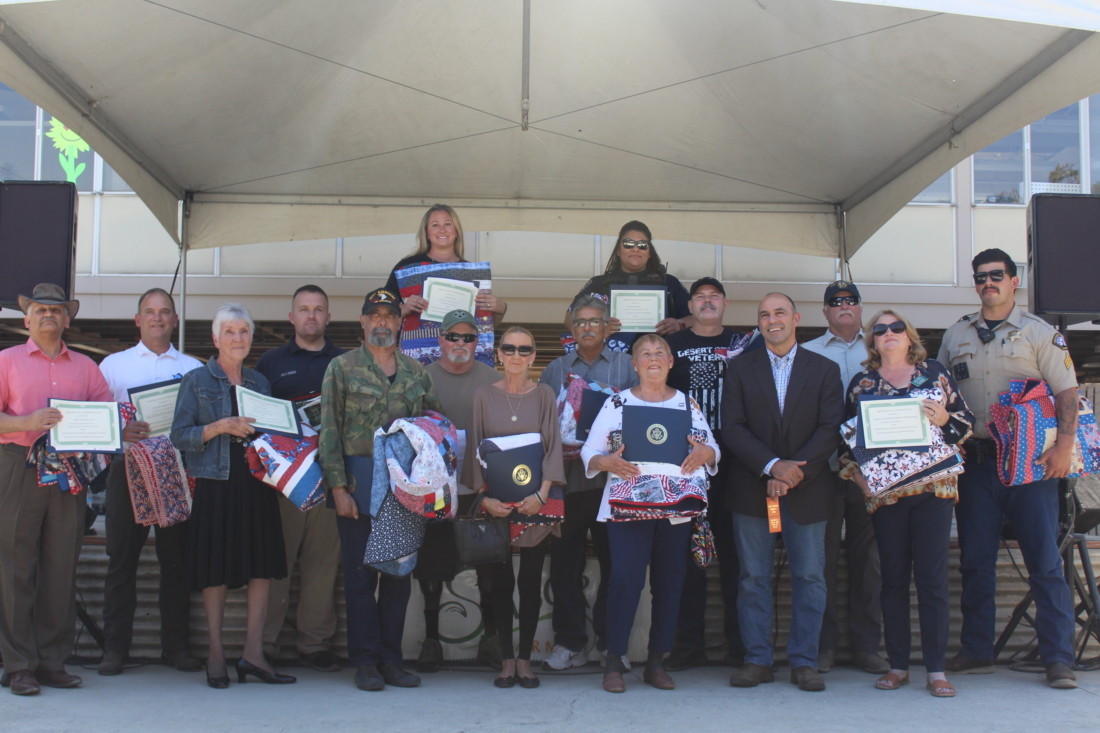 2021 Quilts of Honor and Hometown Heroes Recipients with Congressman Jimmy Panetta. Photo by Jenny Mendolla Arbizu.