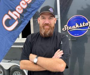 Joseph Elmhorst and his food truck. Photo by Robert Eliason.