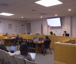 Gabriel Orozco presenting the first quarter budget to the Board of Supervisors. Photo by Noe Magaña.