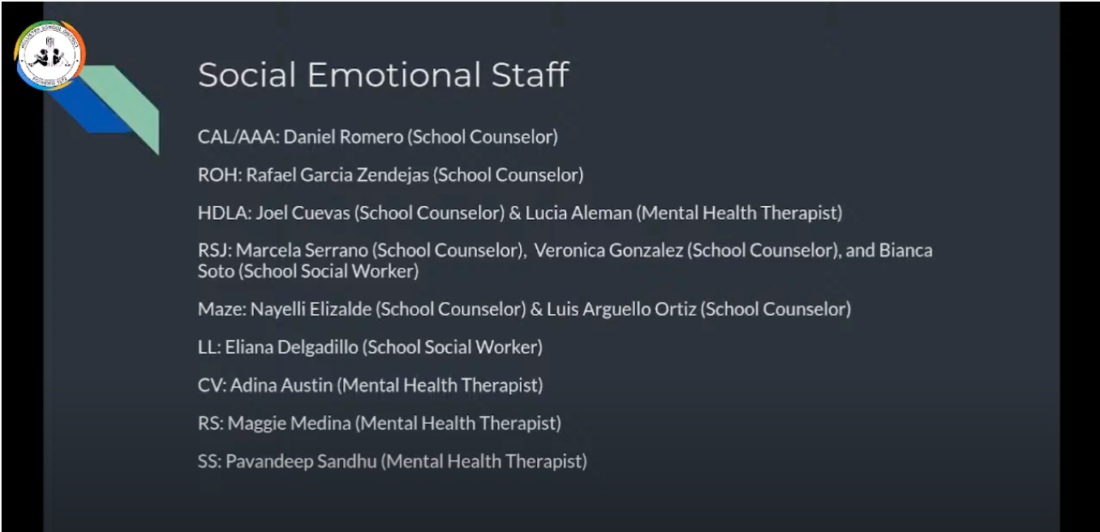 The HSD Social Emotional Staff and school placements. Photo courtesy of HSD Social Media.
